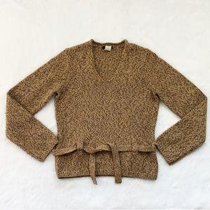 J. Crew Italian Merino Wool Sweater with Tie Belt